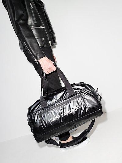 black logo holdall bag