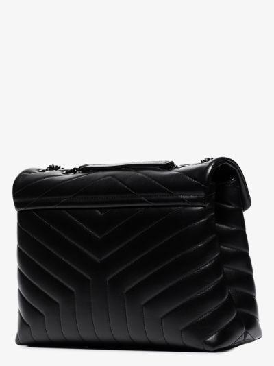 black Loulou medium leather shoulder bag