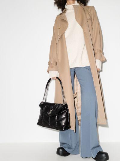 black Loulou puffer medium leather shoulder bag