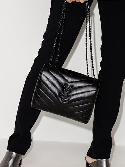 black Loulou small leather shoulder bag