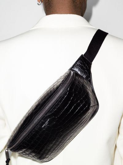 black Marsupio leather cross body bag