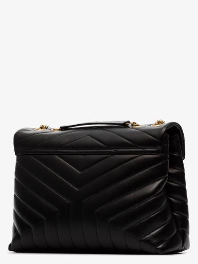 black medium Loulou quilted leather shoulder bag