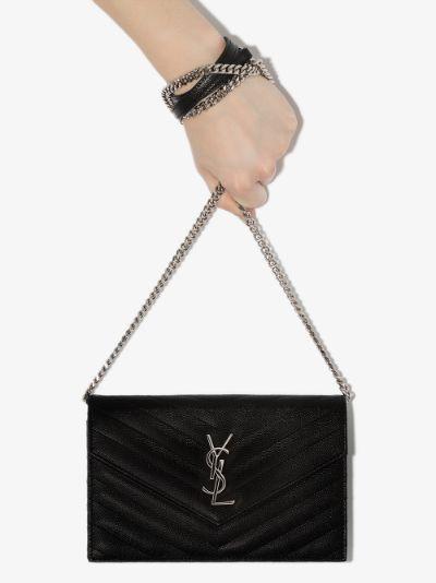 black Monogram leather cross body bag