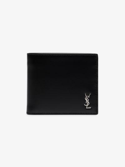 black monogram leather wallet