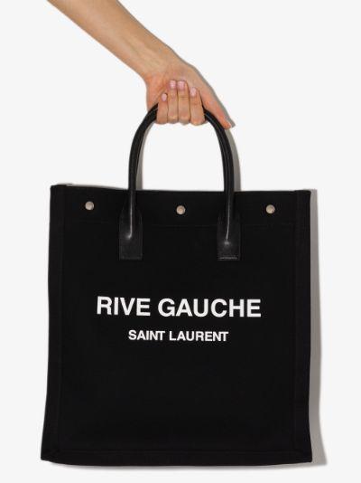 black Neo Rive Gauche canvas tote bag