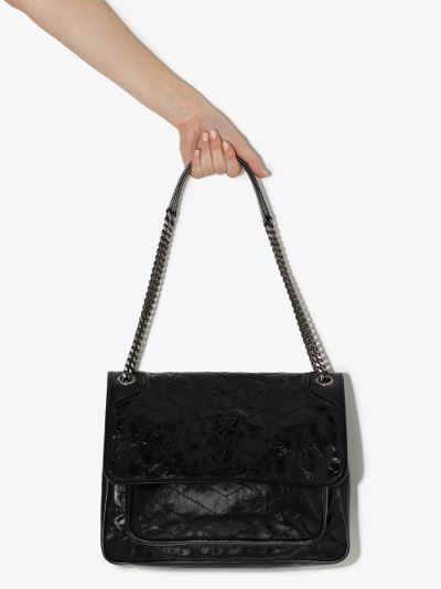 black Niki large leather shoulder bag