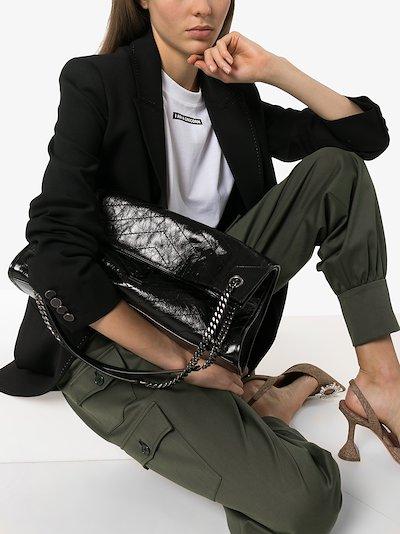 Black Niki medium leather tote bag