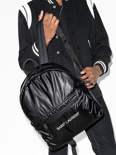 black Nuxx ripstop logo backpack