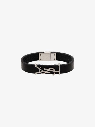 black Opyum leather bracelet