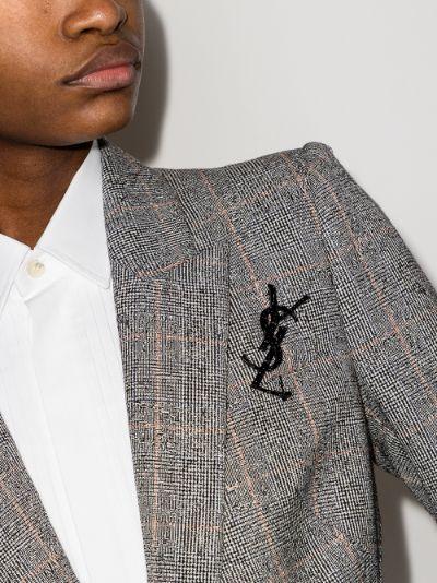 Black Opyum logo brooch
