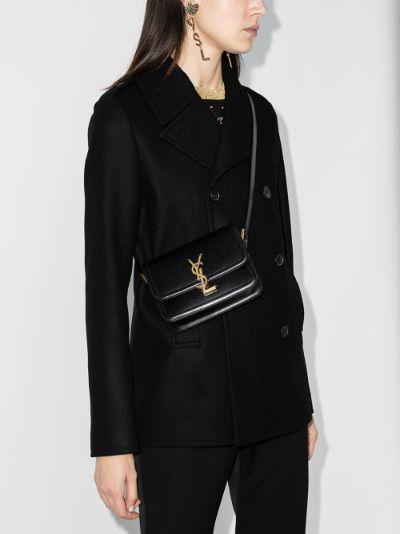 black Solferino small leather cross body bag