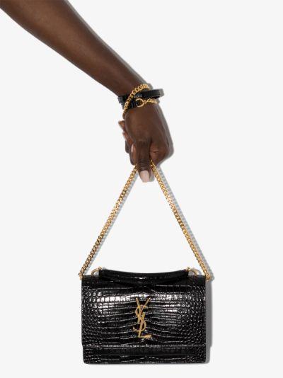 Black Sunset mock croc mini bag