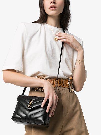Black Toy Loulou leather mini bag