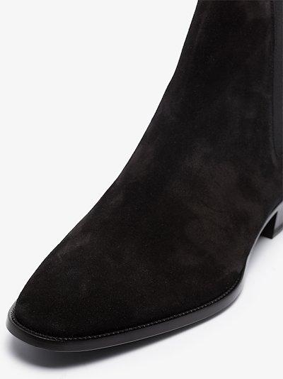 Black Wyatt 30 suede Chelsea boots