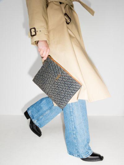 Blue Monogram denim clutch bag