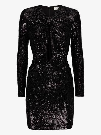 cutout sequin mini dress