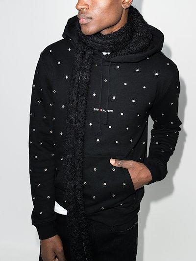 eyelet studded hoodie