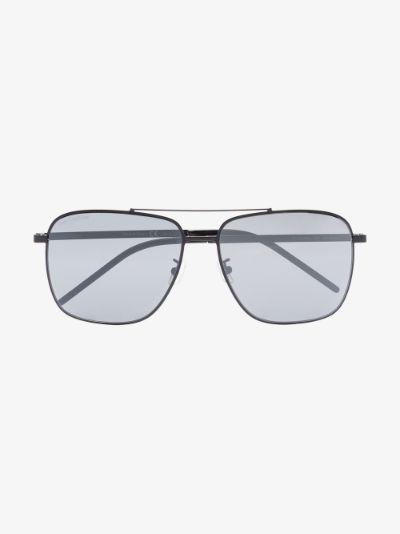 Black 376 Slim aviator sunglasses