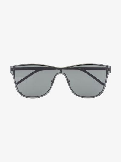 black SL 51 Shield oversized sunglasses