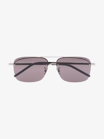 black SL417 aviator sunglasses