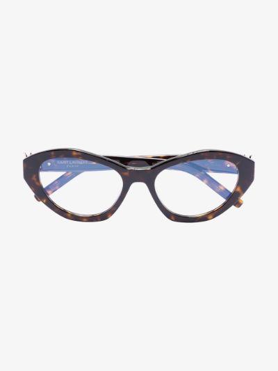 brown cat eye tortoiseshell optical glasses