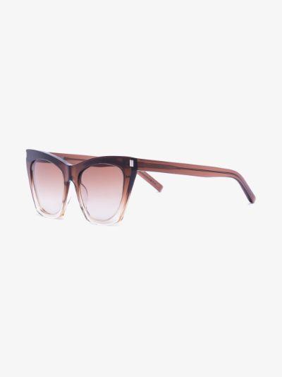 Brown Kate Oversized Cat Eye Sunglasses