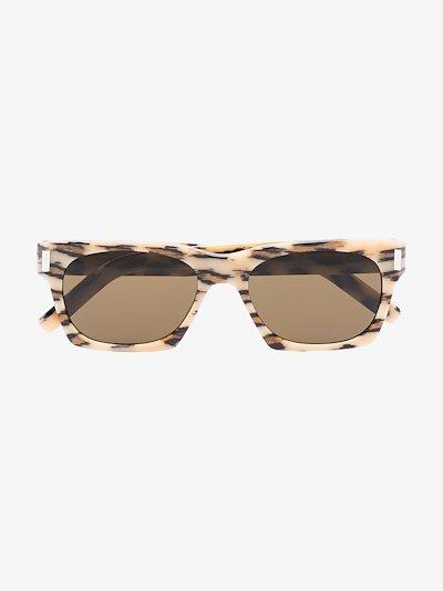 Multicoloured 402 square animal print sunglasses