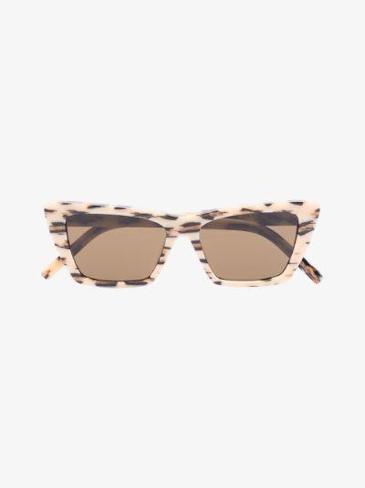neutral New Wave 276 leopard cat eye sunglasses