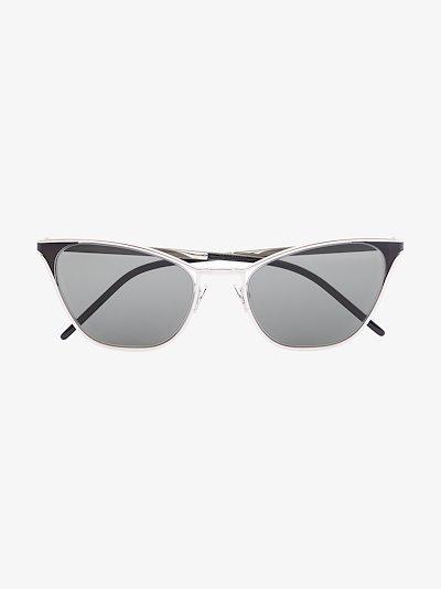 silver tone 409 cat eye sunglasses