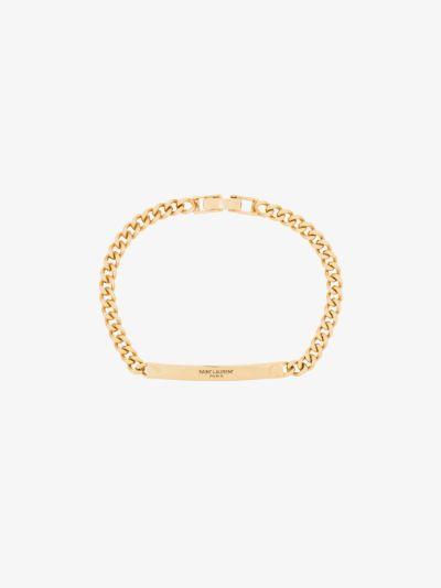 gold-plated logo ID bracelet