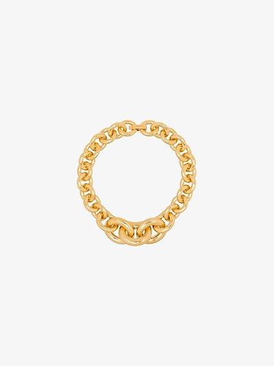 gold tone gradient chain necklace