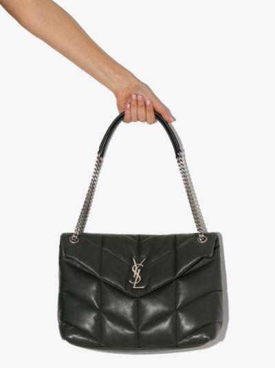 Green Loulou Puffer Medium Leather Shoulder Bag