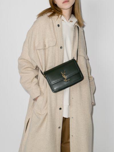 Green Solferino Medium Leather Shoulder Bag