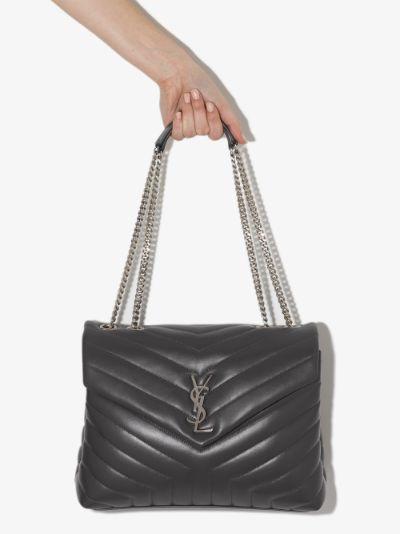 grey Loulou medium leather shoulder bag