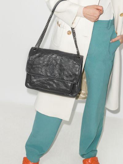 grey Niki large leather shoulder bag