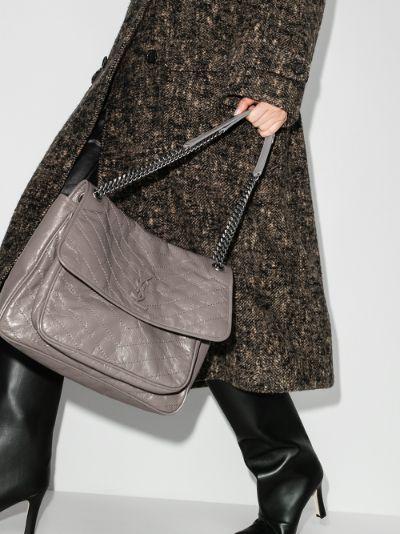 grey Nikki large leather shoulder bag