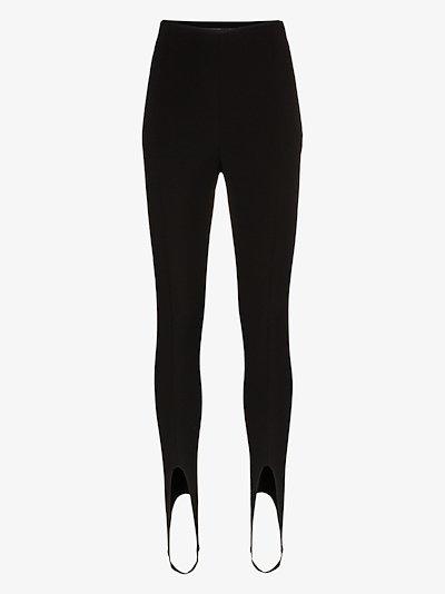 high waist stirrup leggings