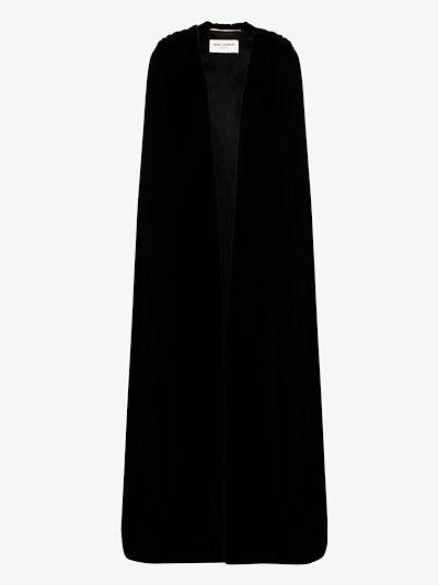 hooded velvet cape