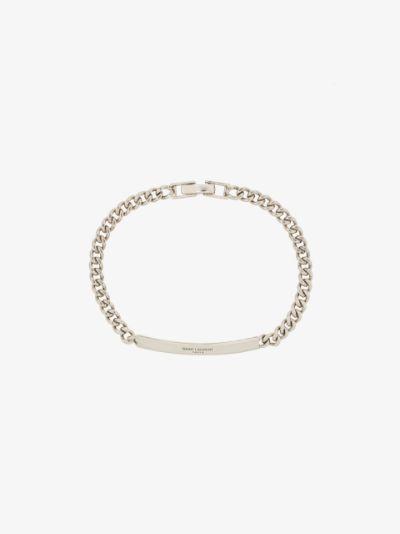 logo plaque chain-link bracelet
