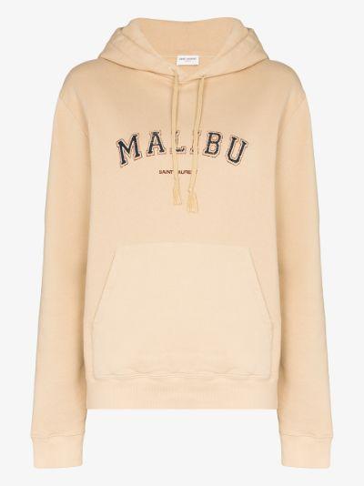 Malibu print cotton hoodie