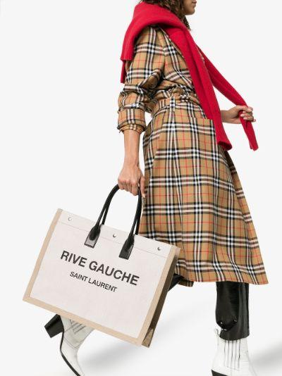 neutral Rive Gauche tote bag