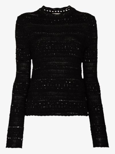 open-knit top