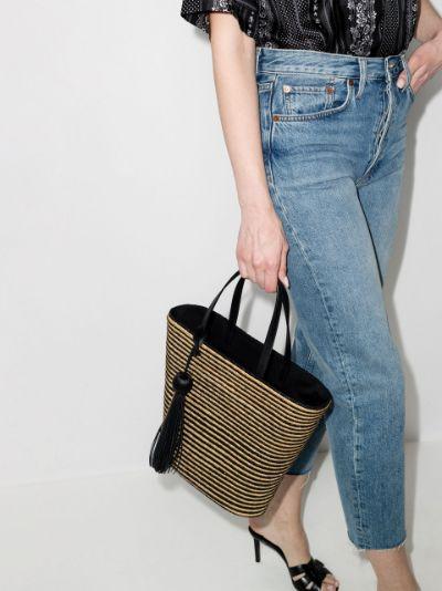 Panier striped tote bag