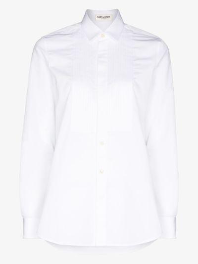 pintuck button-down shirt