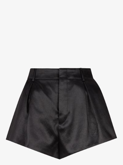 pleated high waist shorts