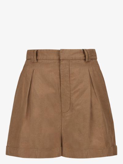 pleated safari shorts
