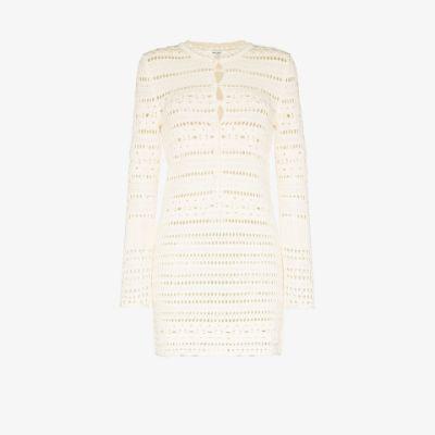 pointelle-knit detail dress