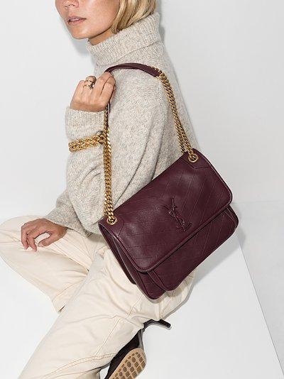 purple Niki medium leather shoulder bag