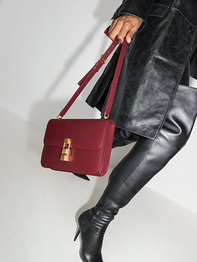 red Carré leather shoulder bag
