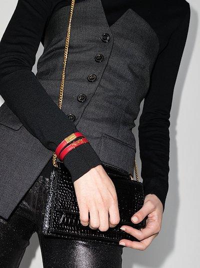 red Opyum wrap leather bracelet
